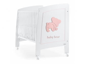 BABY BEAR POSTÝLKA 120X60 cm, white-pink