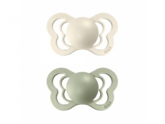 Dudlíky COUTURE ORTODONTIC SILIKON Ivory/Sage velikost 1, 2ks