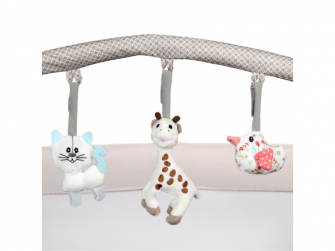 OPTIC Z postýlka s přebalovacím pultem 2020, Sophie la girafe So Chic 3