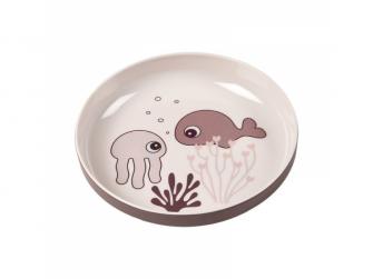 Talíř Sea Friends Yummy - růžová
