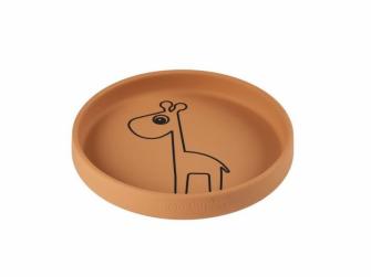 Silikonový talíř kulatý Raffi - hořčicový