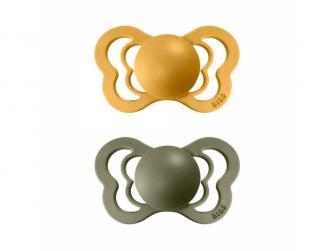 Dudlík COUTURE ORTODONTIC SILIKON Honey/Olive velikost 2, 2ks