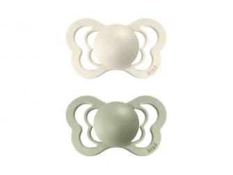 Dudlíky COUTURE ORTODONTIC SILIKON Ivory/Sage velikost 2, 2ks