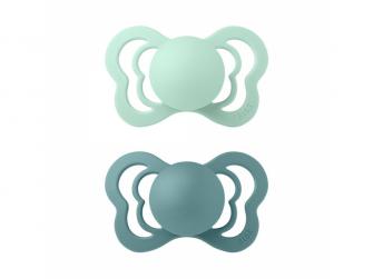 Dudlíky COUTURE Nordic Mint/Island Sea velikost 1, přír.kaučuk 2ks