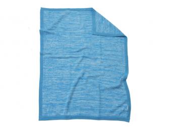 Pletená deka modrá