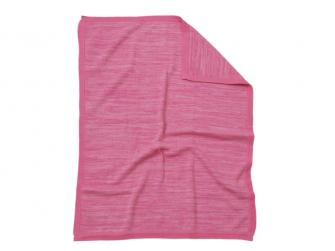 Pletená deka růžová