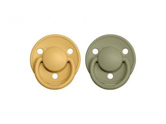 Dudlíky DE LUX Honey Bee/Olive - velikost 2, z přír.kaučuku 2ks