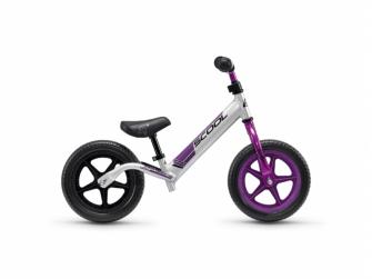 Dětské odrážedlo pedeX race light neonově stříbrno-fialové