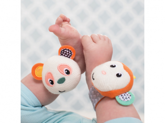 Chrastítka na ruku Opička & Panda 2