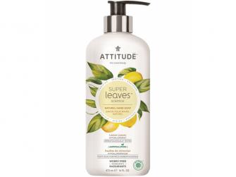 Přírodní mýdlo na ruce Super leaves s detox. účinkem - citrusové listy 473 ml
