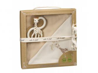 Novorozenecký set žirafa Sophie z kolekce So'Pure (kousací kroužek + So'Pure deka)