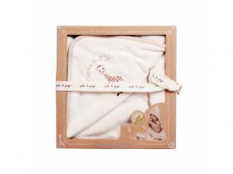 Osuška s kapucí z organické 100% bavlny z kolekce So 'Pure,