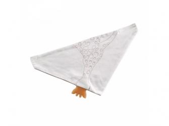 Šátek ze 100% bio bavlny s kousátkem ze 100% kaučuku z kolekce So'Pure
