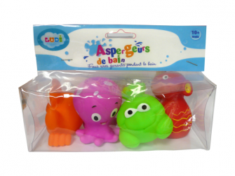 Hračky do vody mořské potvůrky 4ks 2