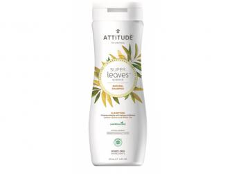Přírodní šampón Super leaves s detox. účinkem  - rozjasňující pro normální a mastné vlasy 473 ml