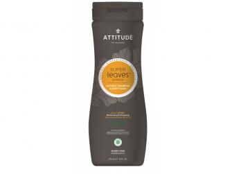 Přírodní pánský šampón & tělové mýdlo (2 v 1) Super leaves s detox. účinkem - normální vlasy 473 ml