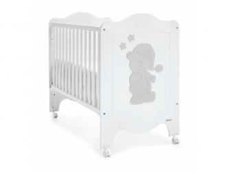 SLEEPY BEAR POSTÝLKA 120X60, white-silver