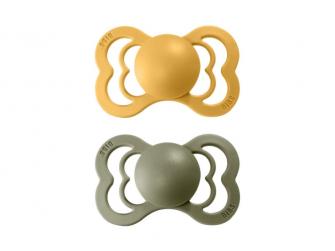 Dudlíky SUPREME  Honey Bee/Olive - velikost 2, z přír.kaučuku 2ks