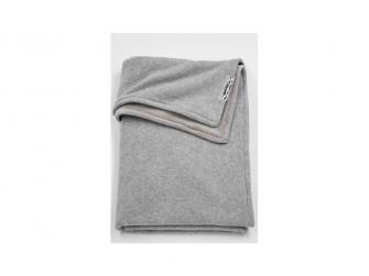 deka do kočárku/kolébky samet Knit basic grey melange