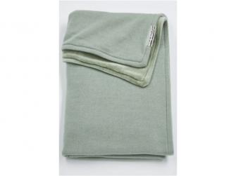 deka do kočárku/kolébky samet Knit basic stone green