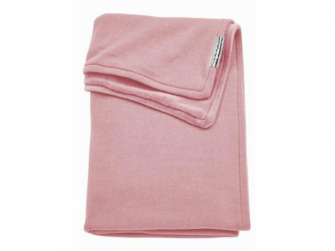 deka do kočárku/kolébky samet Knit basic dusky pink