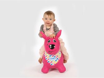 Skákací pes růžový 2