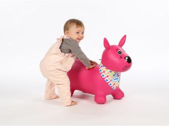 Skákací pes růžový 4
