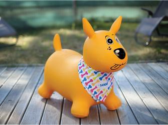 Skákací pes žlutý 5