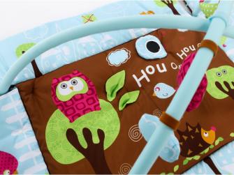Hrací deka s mantinelem a hrazdou Sova modrá 4