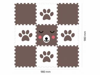 Minideckfloor podlaha 9 dílů - méďa a tlapka