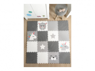 Minideckfloor podlaha 16 dílů - beránek, jednorožec, tuleň a hvězda