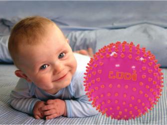 Senzorické míčky 3 ks růžové 2