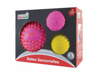 Senzorické míčky 3 ks růžové 5