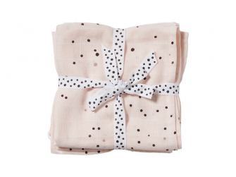 Mušelínové plenky Dreamy Dots 2ks - růžové