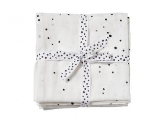 Mušelínové plenky Dreamy Dots 2ks - bílé