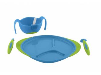 Dětský talířek-modrá 2