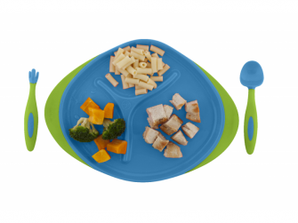 Dětský talířek-modrá 4