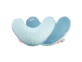 Kojící polštář Happy dots - modrý
