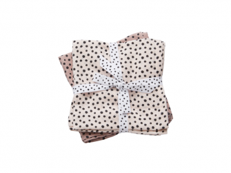 Mušelínové zavinovací plenky Happy dots 2ks - růžové