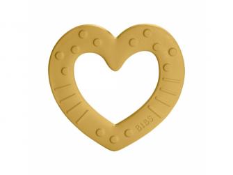 Baby Bitie kousátko Heart Mustard