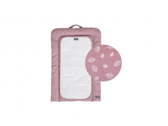 Nordic Leaf Přebalovací podložka Soft Pink