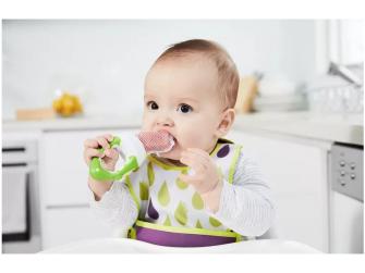 Dětská krmící síťka -Zelená 3