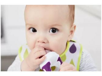 Dětská krmící síťka - Fialová 4