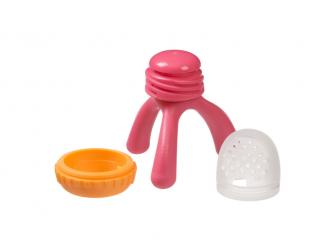 Krmící dudlík a kousátko - růžový 3