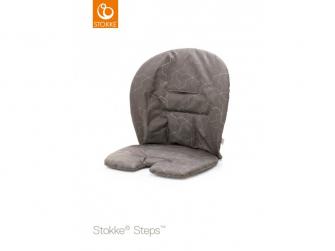 Polstrování baby k židličce Steps™ - Geometric Grey (Organic Cotton)