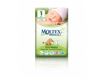 Plenky Moltex nature no. 1  Newborn 2 - 4 kg (23 ks)