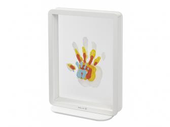 Rámeček Superposed Handprints White