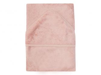 Osuška s kapucí 75 x 75 cm Misty Rose