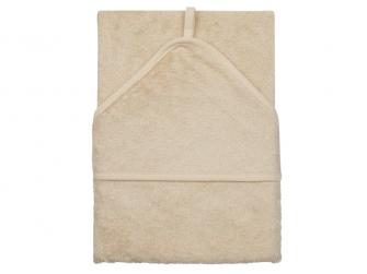 Osuška s kapucí 75 x 75 cm Frosted Almond