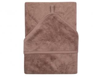 Osuška s kapucí XXL 95 x 95 cm Mellow Mauve